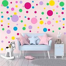 Amazon Com Easu Polka Dots Wall Decals 231 Decals Circles Dots Wall Decor Removable Vinyl Dot Wall Decals Nursery Room Stickers Kids Wall Decals Kitchen Dining