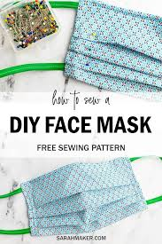 free face mask pattern in 2020 sewing