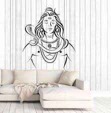 Vinyl Wall Decal Lord Shiva Hinduism India God Religion Stickers Uniqu Wallstickers4you