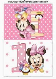 Minnie First Year Free Printables 009 Jpg 980 1 376 Pixeles