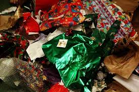 holiday gift wrap is a mine field