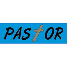 10in X 3in Pastor Religious Christian Vinyl Bumper Sticker Decal Stickers Decals Walmart Com Walmart Com