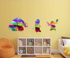 Stitch Wall Decal Stitch Wall Art Lilo And Stitch Characters Etsy