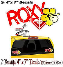 Amazon Com 2 Roxy Full Color 7 Vinyl Decals Car Window Stickers Automotive
