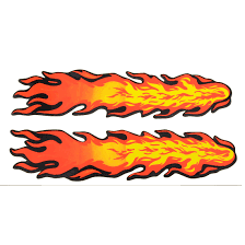 Wall Door Cars Decorative Fire Flame Decal Stickers Yellow Orange Red 2 In 1 Walmart Canada