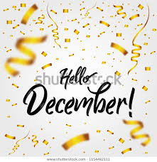 hello golden confetti new month stock vector royalty