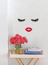 Eyelash Lips Wall Decals Eyelash Lips Wall Stickers Fashion Etsy