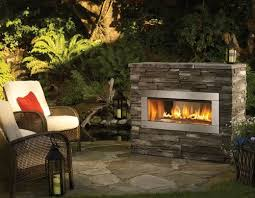 small gas outdoor fireplace no