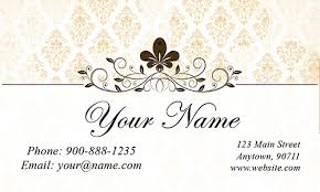 white jewelry business card design