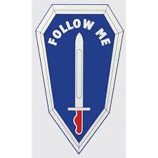 Follow Me U S Army Infantry School Military Car Window Decal Army Infantry Infantry Army