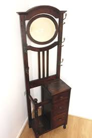 antique solid wood hallway stand
