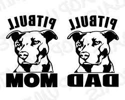Pitbull Dad Vinyl Decal Sticker Car Window Bumper Wall I Love My Rescue Dog