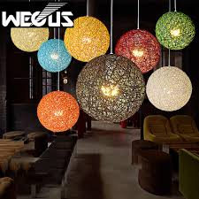 country weave ball pendant light