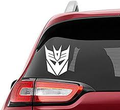 Amazon Com Yingkai Transformers Decepticon Logo Vinyl Wall Tumbler Window Glass Art Decal Sticker For Shop Office Home Cafe Hote Classroom Car Other Indoor And Outdoor Decoration Arts Crafts Sewing