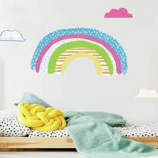 Zoomie Kids Pattern Rainbow Peel And Stick Giant Wall Decal Wayfair