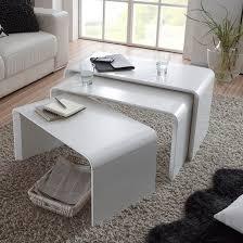 carlene wooden nest of tables in matt