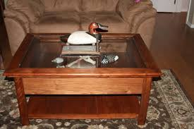 how to build a coffee table display case