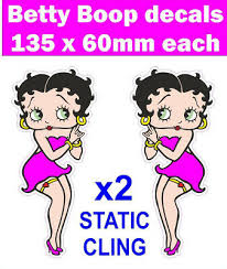 Static Cling 2 Betty Boop Window Stickers Pink Dress Scooter Decals Car Van Mod Ebay