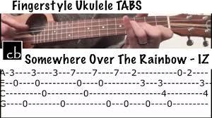 Somewhere Over The Rainbow - Bruddah IZ (FINGERSTYLE Ukulele ...