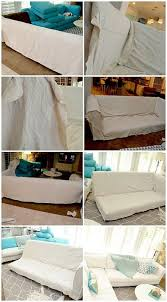 dropcloth sofa sectional slipcover