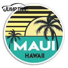 Jump Time For Maui Hawaii Vinyl Stickers Cool Travel Sticker Laptop Luggage Decal Window Tank Waterproof Car Decoration Car Stickers Aliexpress