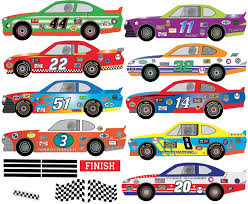 Amazon Com Race Car Wall Decals Eco Friendly Matte Fabric Removable Auto Racing Decals Home Kitchen