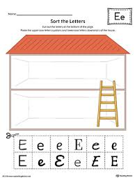 letter e worksheet color
