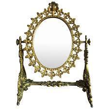 vintage gilt brass vanity mirror