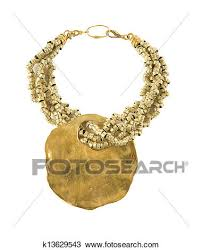 big raw gold pendant necklace stock