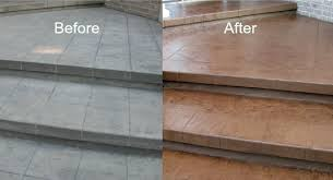 recoloring stamped concrete in