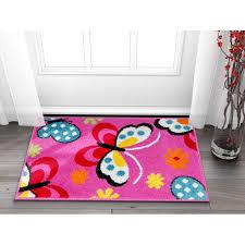 Well Woven Small Rug Mat Doormat Modern Kids Room Kitchen Rug Daisy Butterflies Pink 1 8 X 2 7 Accent Area Rug Entry Way Bright Carpet Bathroom Soft Durable Walmart Com Walmart Com