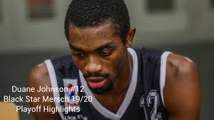 Duane Johnson #12 (SG-SF, Luxembourg, Black Star Mersch) Playoff ...
