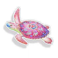Sea Turtle Sticker Tribal Pink Purple Car Laptop Cup Cooler Beach Window Decal Decals Stickers Aliexpress