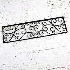 Antique Swirled Design Wrought Iron Railing Piece Trellis Or Fence Section For Sale At 1stdibs