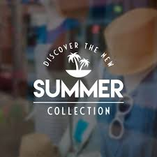 Tropical Summer Collection Window Sign Removable Vinyl Decal Etsy
