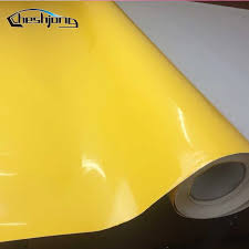 High Glossy Yellow Vinyl Sticker Adhesive Pvc Car Styling Decal Gloss Film Sheet For Hood Roof Scooter Motorcycle Wrap Car Stickers Aliexpress
