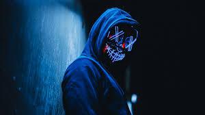 5k wallpaper of purge led mask hd