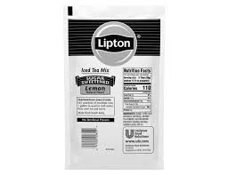 lipton lemon enveloped iced tea mix