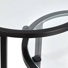glass top madison round nesting table