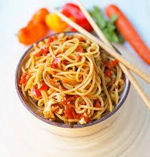 asian vegetable stir fry noodles