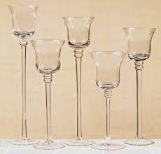 stemmed glass votive candle holders