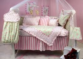 topsy turvy circus bedding in pink fabric