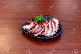 Tako Sashimi, Japan Food Stock Photo, Picture And Royalty Free ...