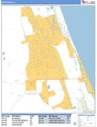 palm coast florida wall map basic