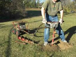 Little Beaver One Man 5hp Briggs Mechanical Earth Auger Post Hole Digger 02 Youtube