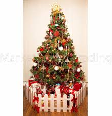 Christmas Tree Decoration Surround Fence 3 X Lengths 1 8mtr White Free Standing Amazon Co Uk Garden Outdoors