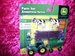 Ertl Farm Set 10 Pc Wood Fence Cows Men S Scale 1 64 Z Trains And Toys For Big Boys