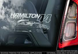 Lewis Hamilton 44 Car Window Sticker Mercedes Formula 1 F1 2019 Decal V08 Ebay