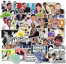 Amazon Com The Office Stickers Merchandise 50pcs Funny Quote Vinyl Design Pack With Mike Michael Dwight Jim Dunder Mifflin For Hydro Flask Water Bottles Laptop Notebook Computers Guitar Bike Folder Car Electronics
