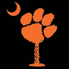 Clemson Tigers Paw Palm Decal Upstate Tailgate Inc